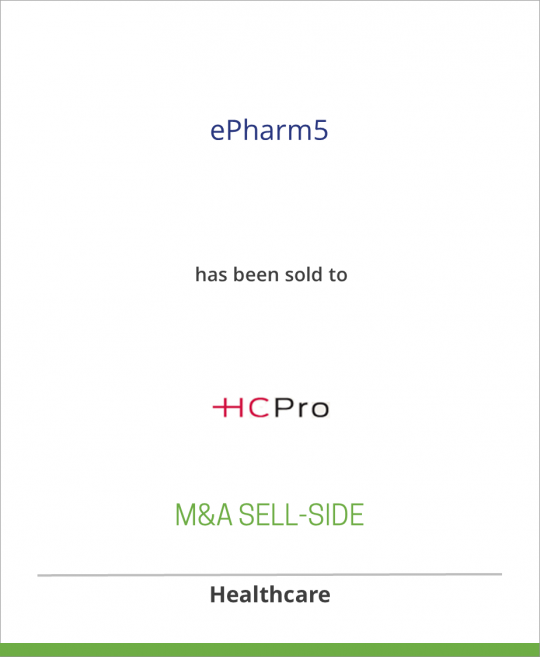 Medical Broadcasting Company has sold ePharm5 to HCPro Inc.